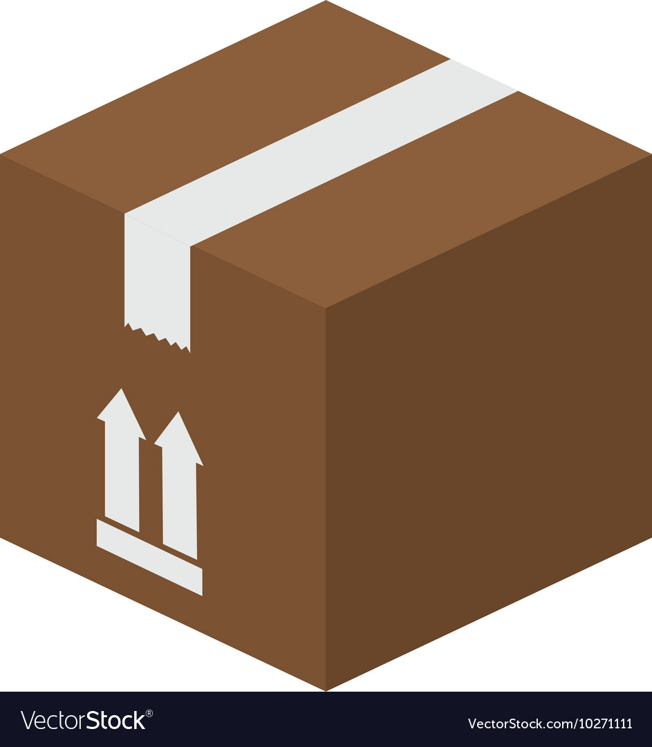 Box package top vector image