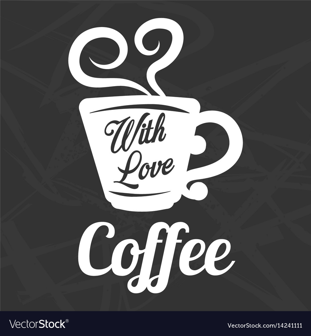 Coffee cup steam icon template for cafe vector image