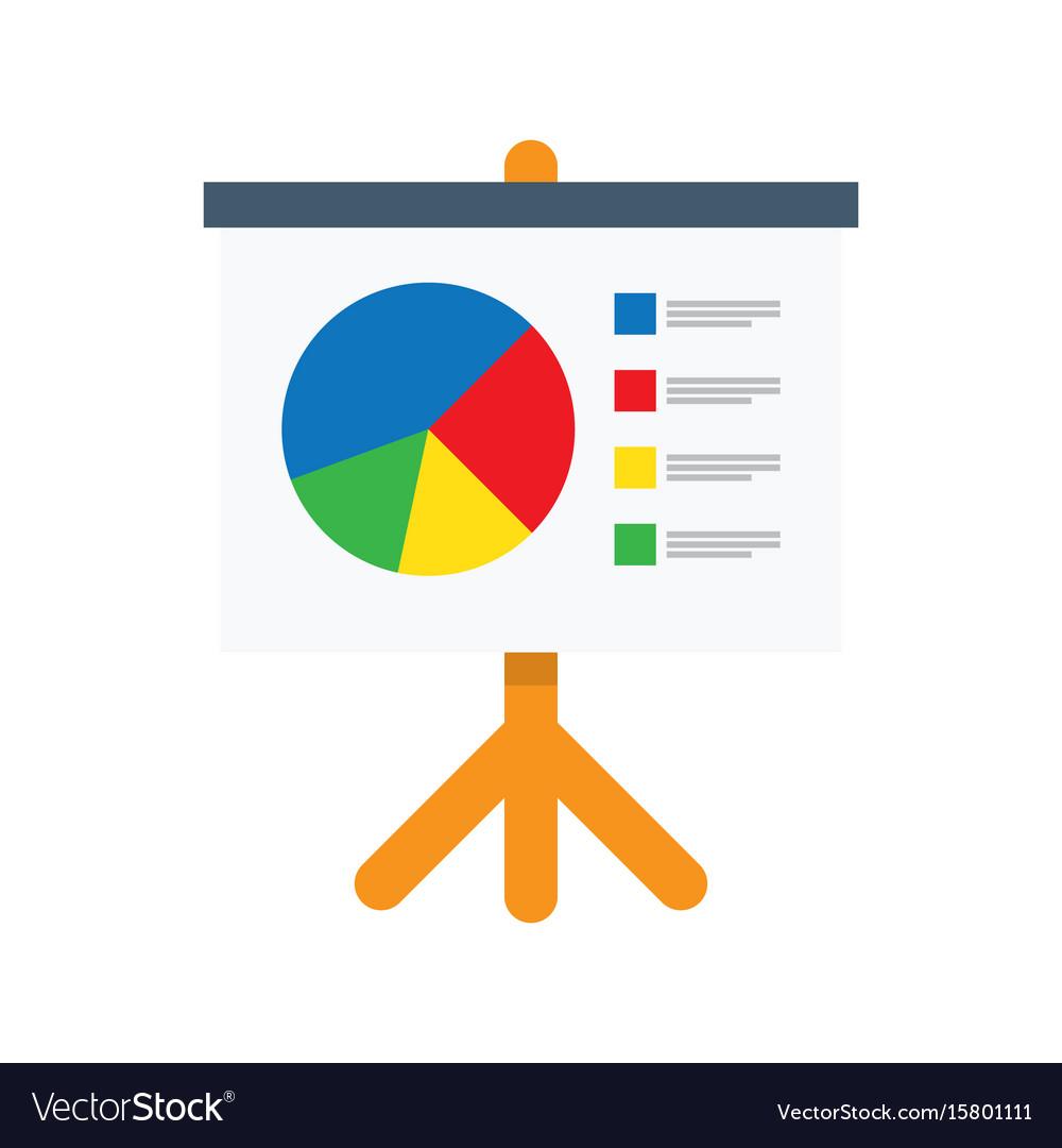 Flipchart whiteboard screen with marketing data