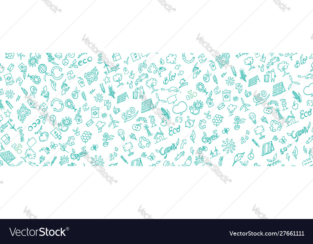 Pattern banner eco symbol element