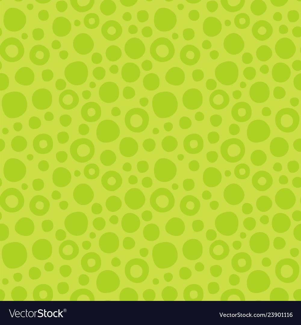 Abstract green seamless pattern of circles