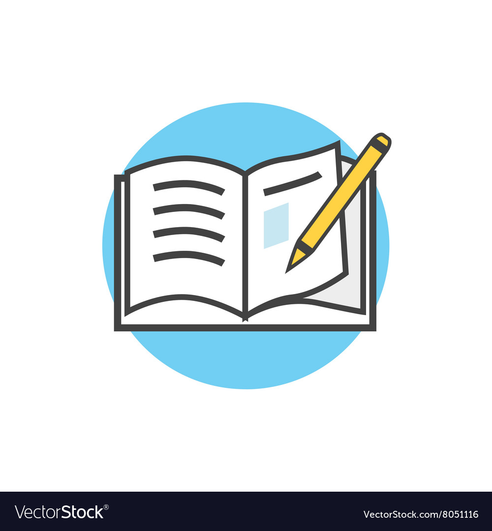 back to school icon book and pencil royalty free vector