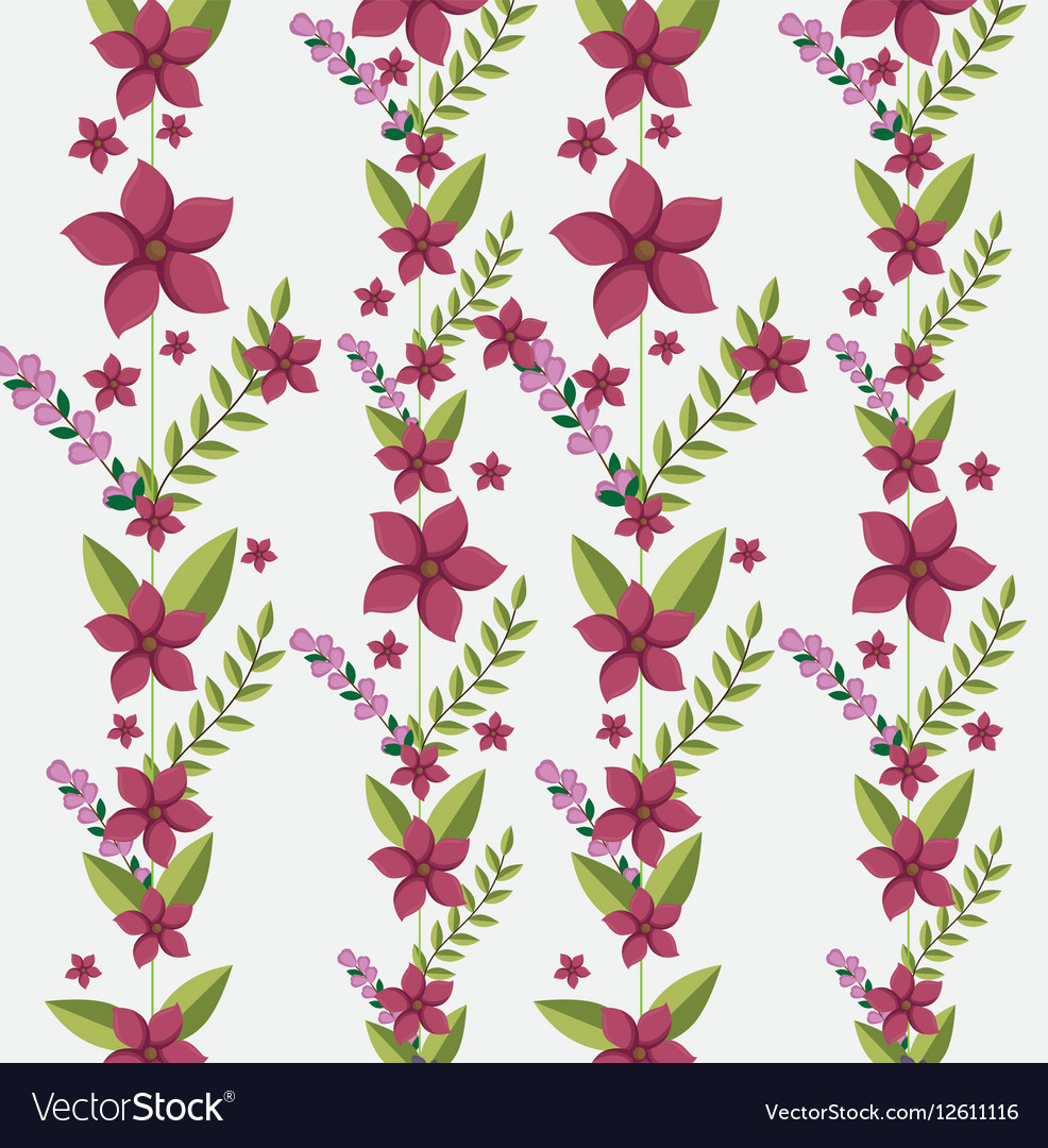 Cute Flowers Frame Background Royalty Free Vector Image