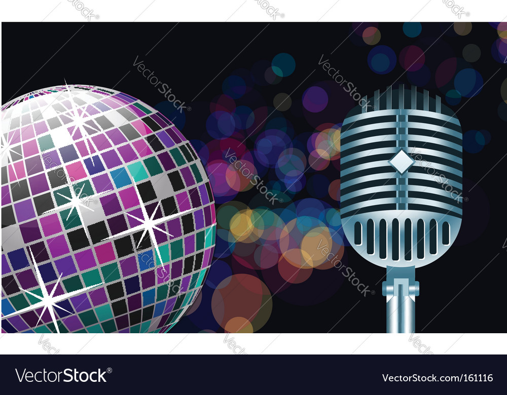 Disco ball with microphone