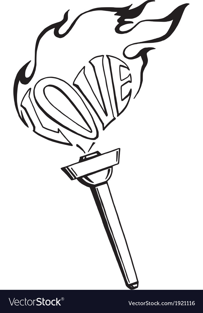 Flaming heart torch of love