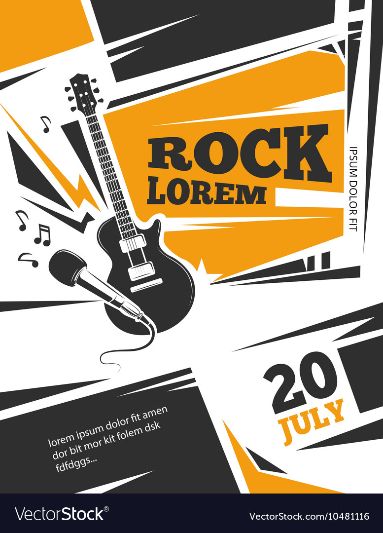 Live Music Poster Template Royalty Free Vector Image