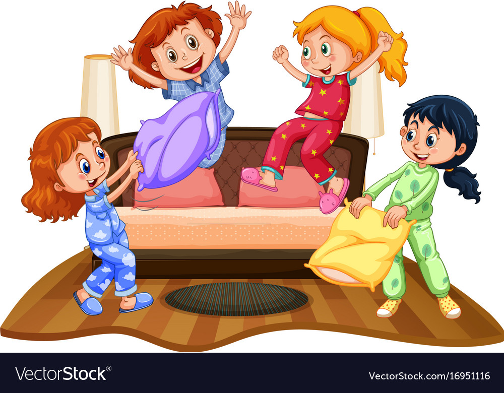 slumber party pillows vector images 60
