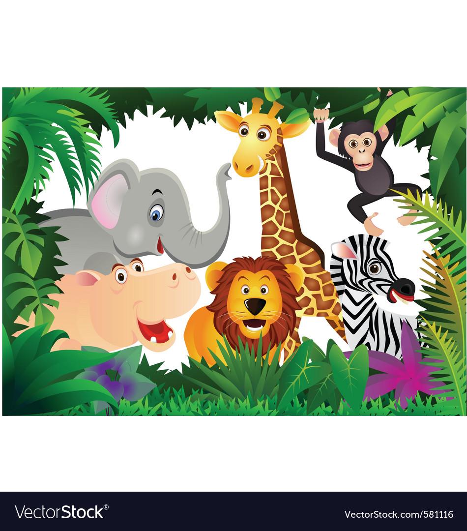 Safari animal cartoon
