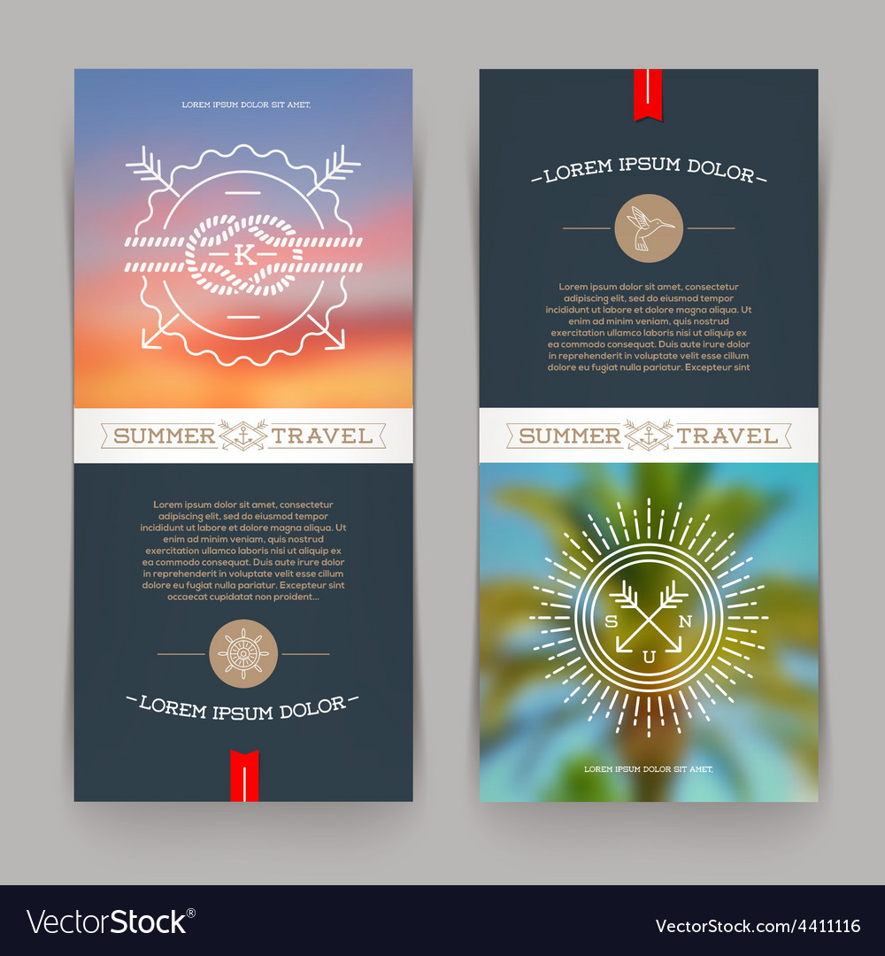 Vertical banners with Nautical and Travel sign