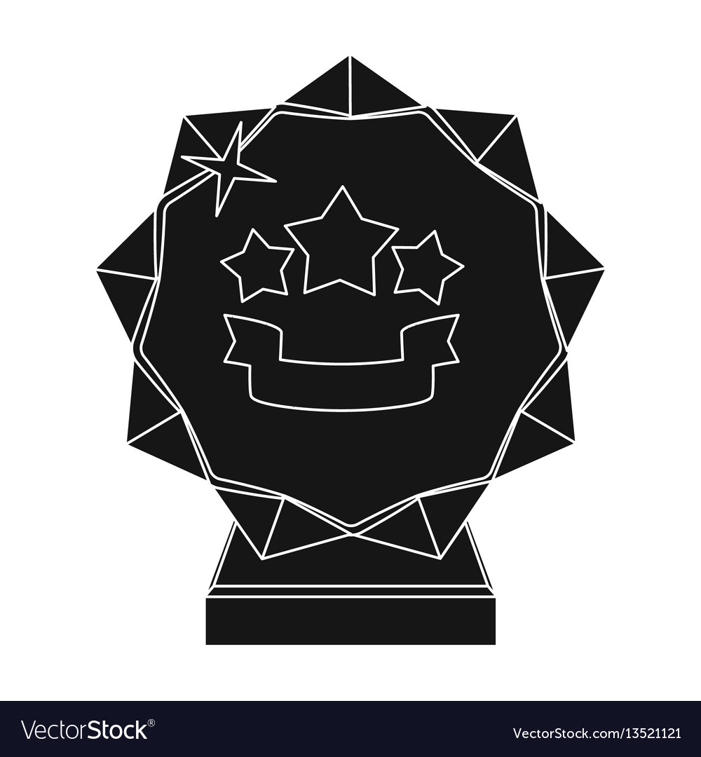 Crystal trophy in the shape of a staraward for vector image