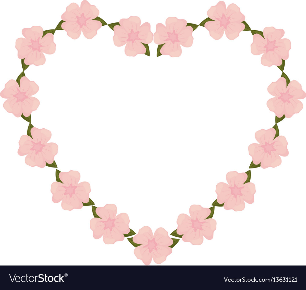 Cute heart flowers decoration royalty free vector image cute heart flowers decoration vector image mightylinksfo