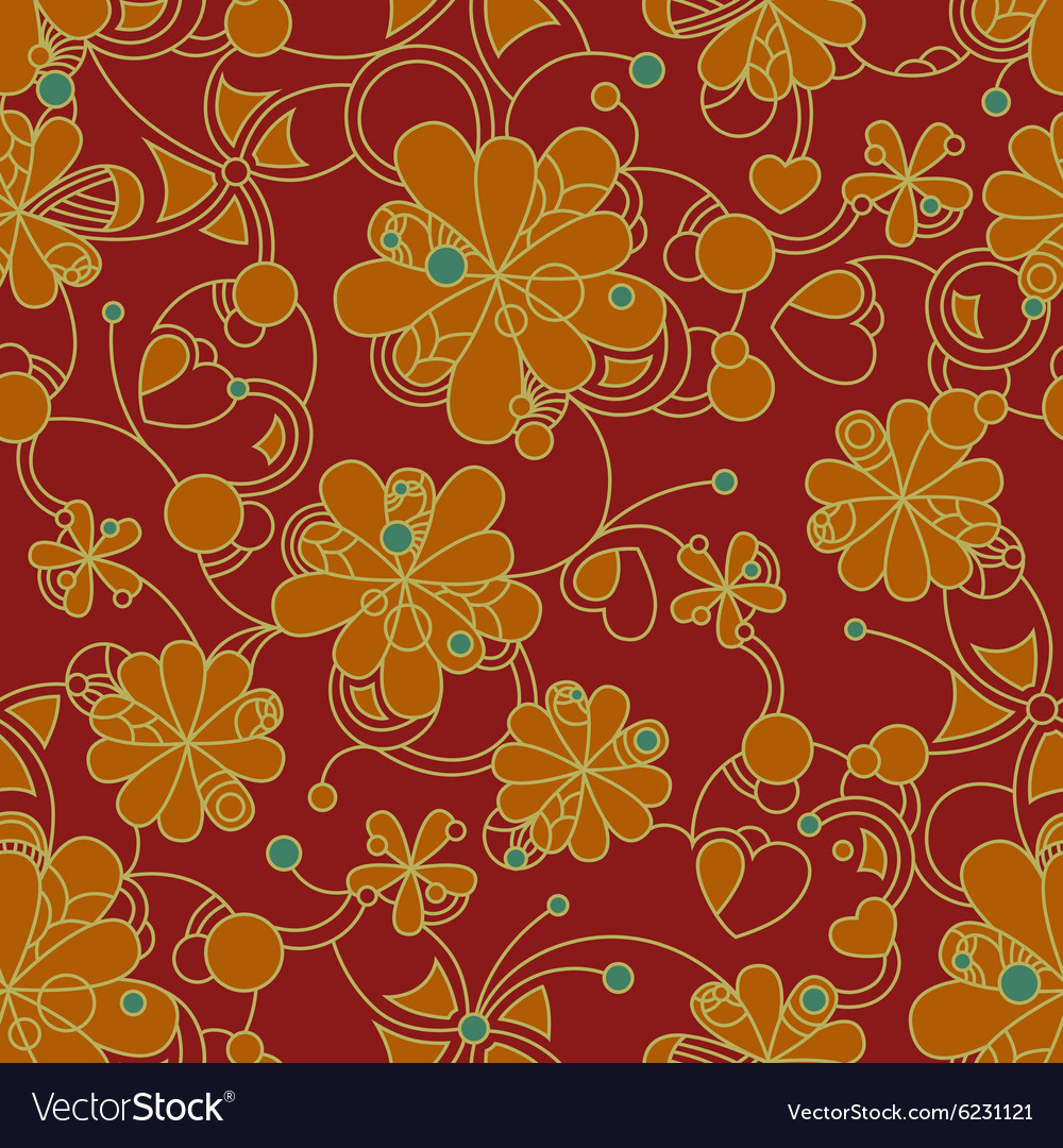 Floral seamless background pattern for continuous