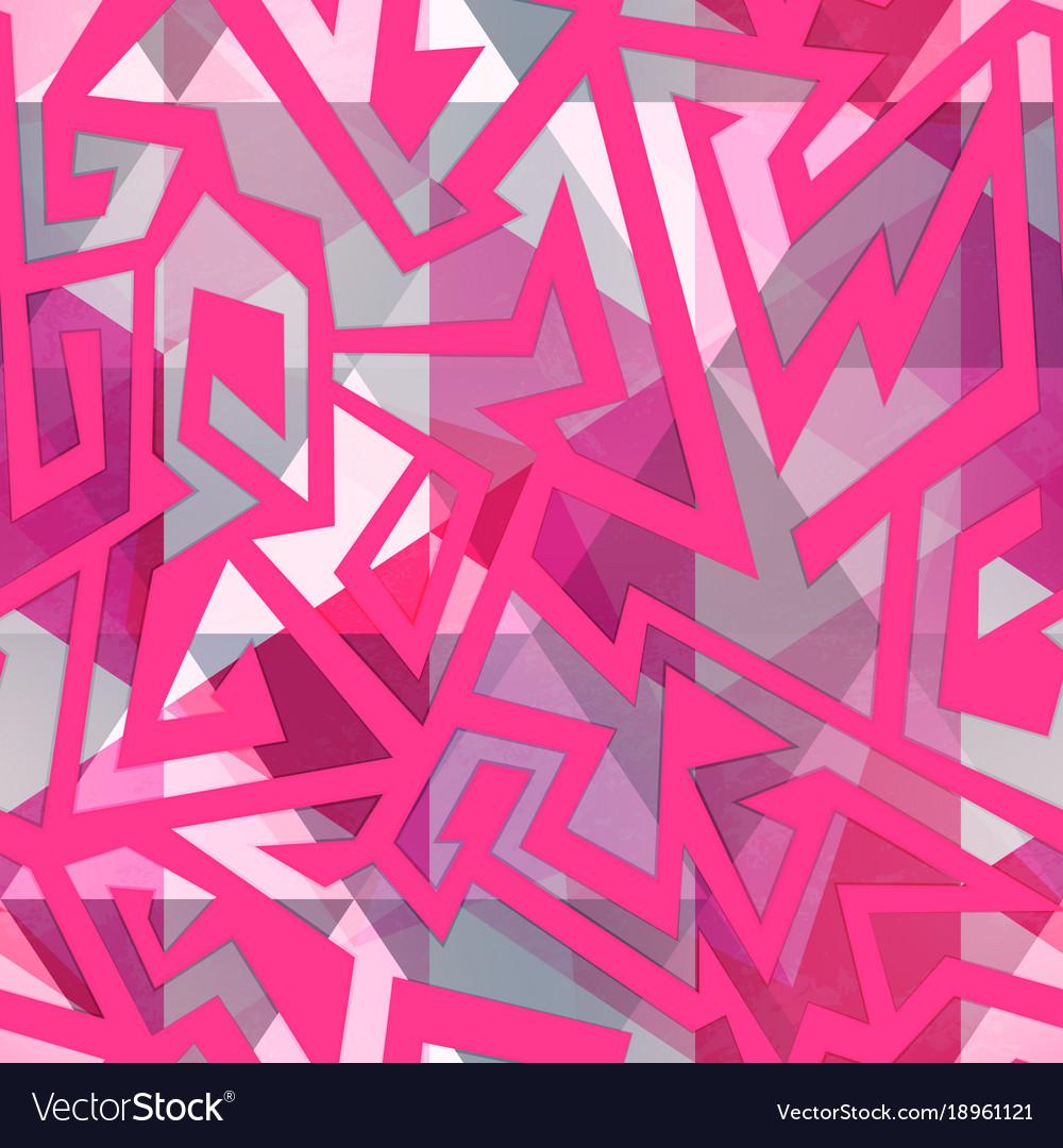 Pink maze seamless pattern