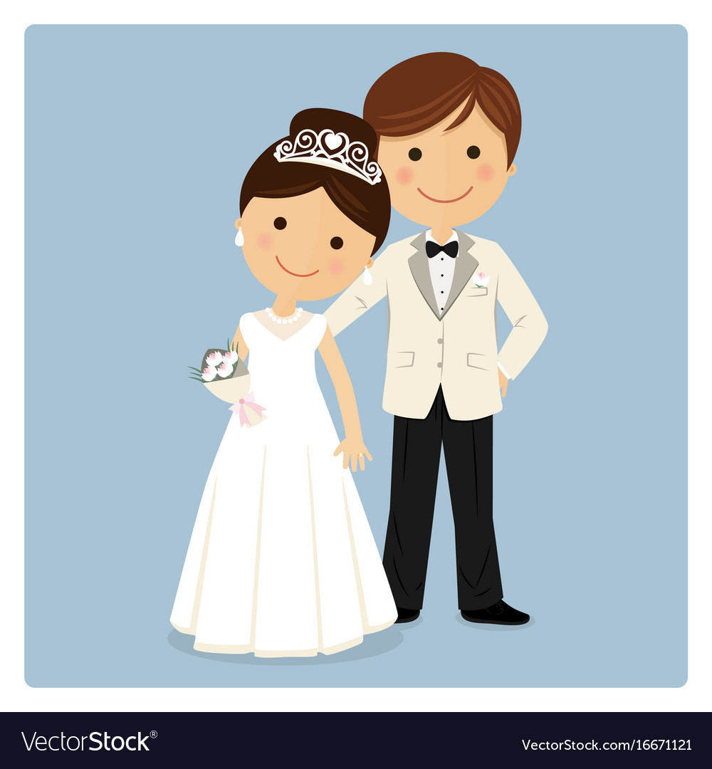 Princely style couple on blue background vector image