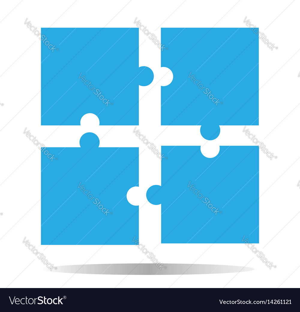 Puzzle icon creative group symbol cooperation