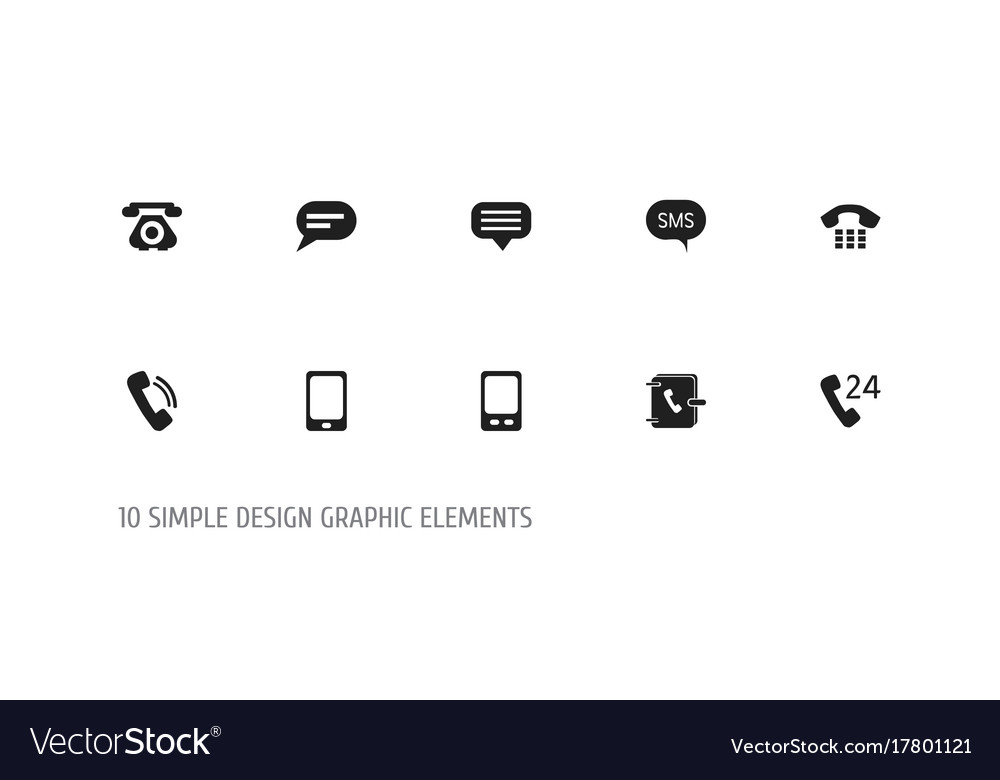 Set of 10 editable gadget icons includes symbols