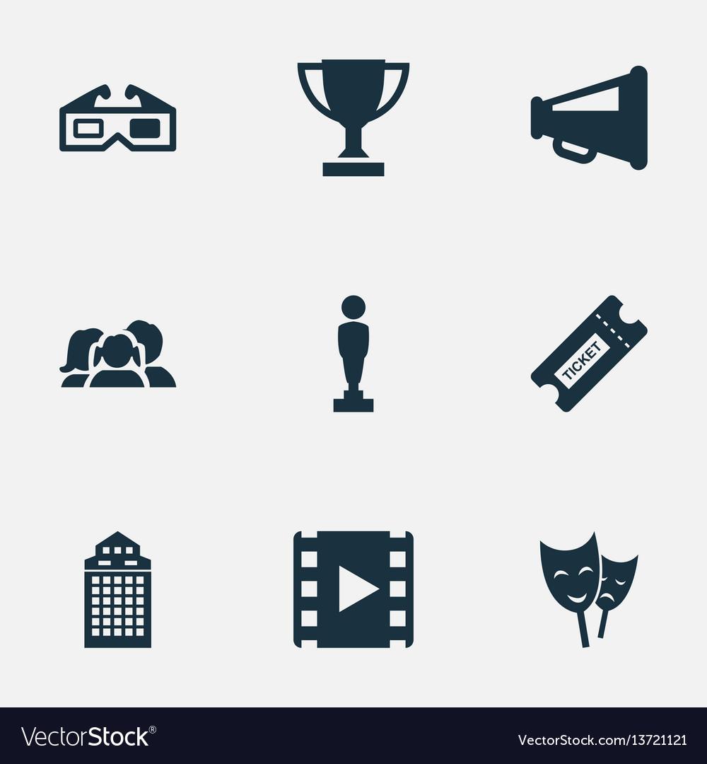 Set of simple movie icons