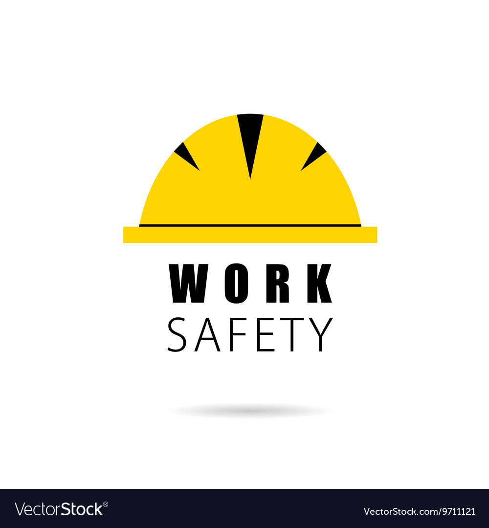Worker hat safety icon Royalty Free Vector Image