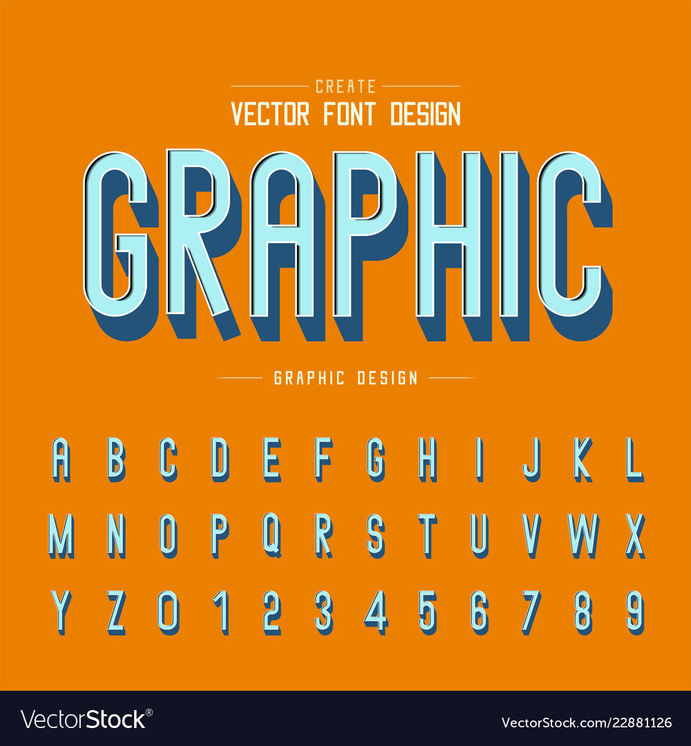 3d font and alphabet shadow letter typeface