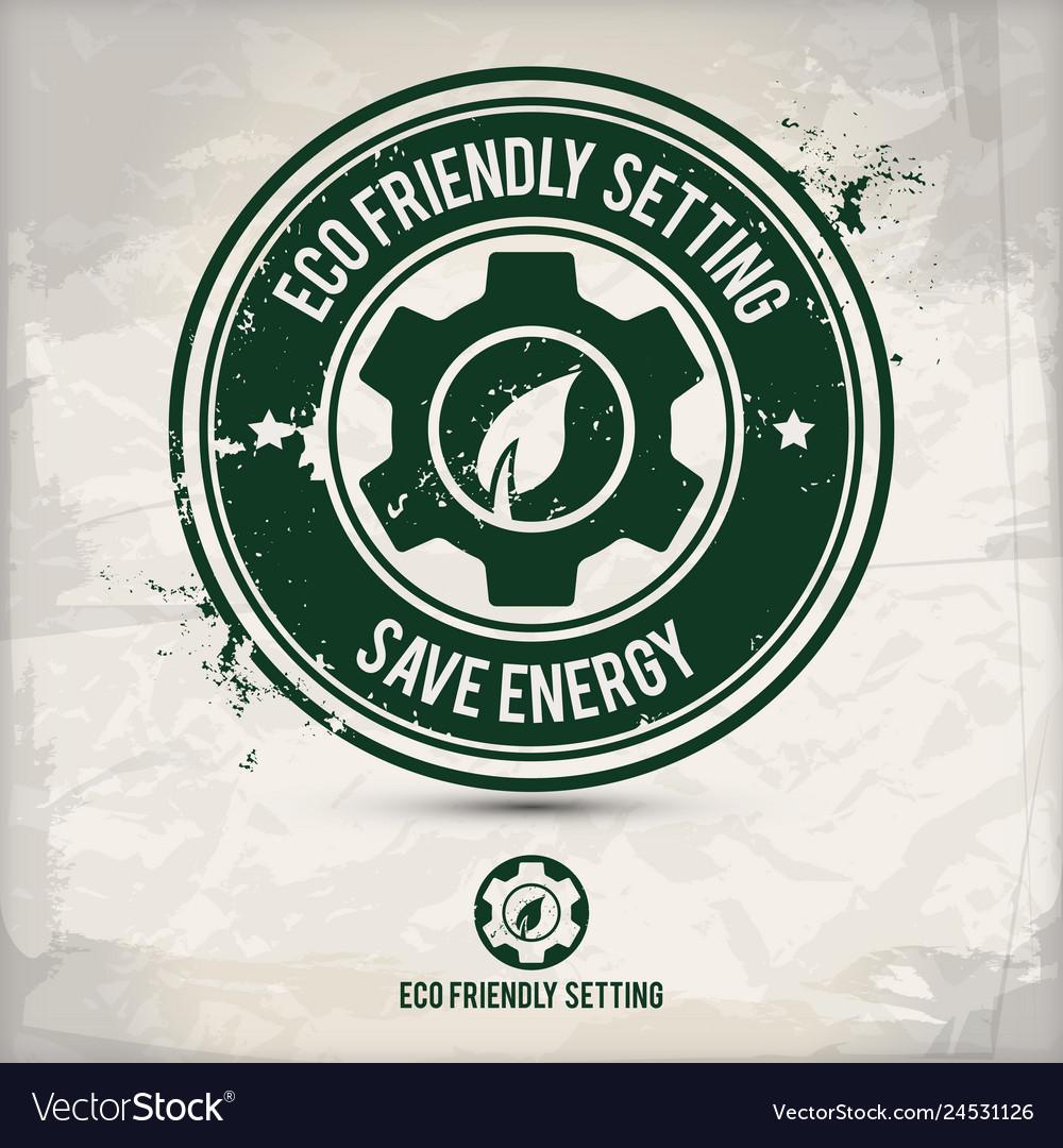 Alternative eco setting stamp