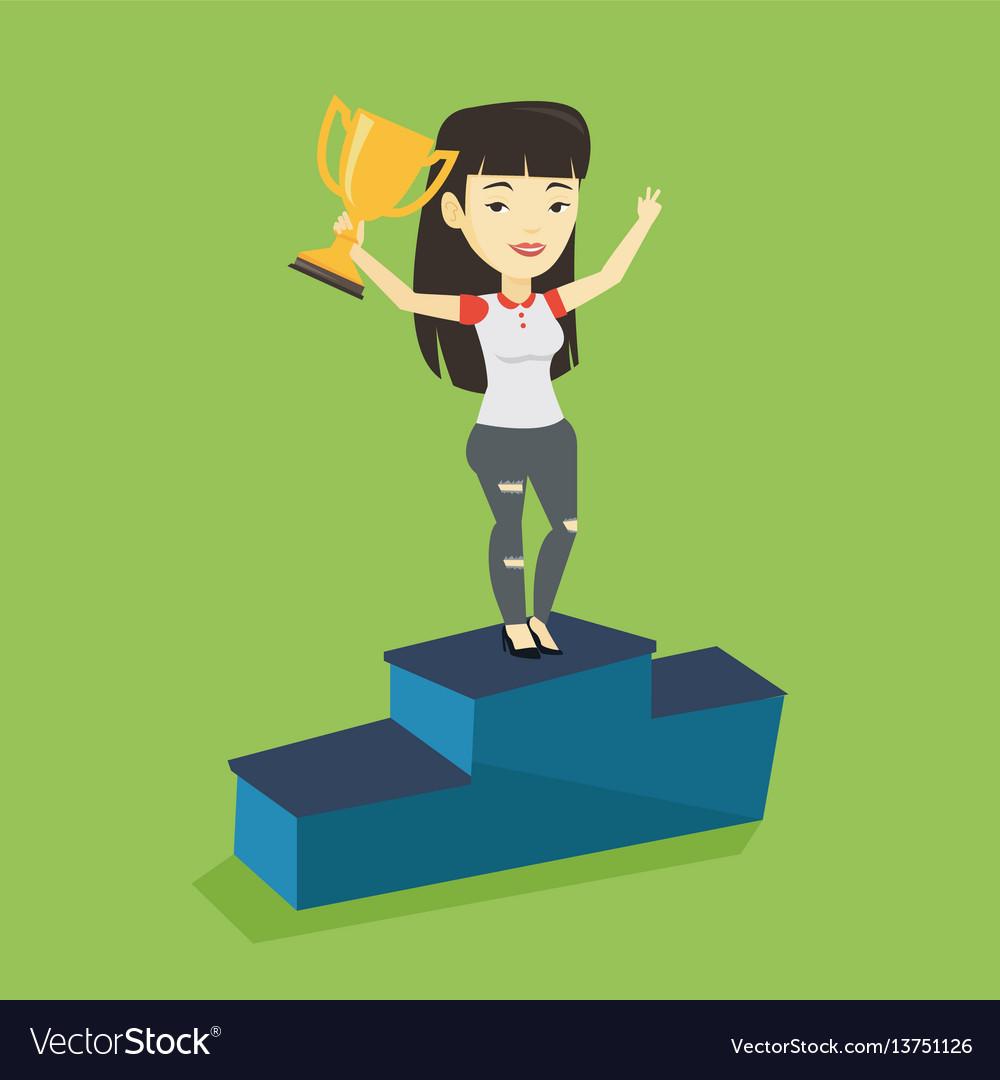 Businesswoman proud of her business award