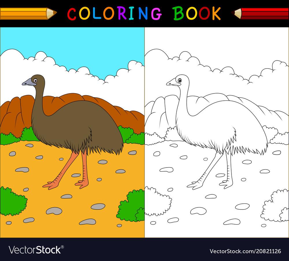 Cartoon coloring book australian animals series