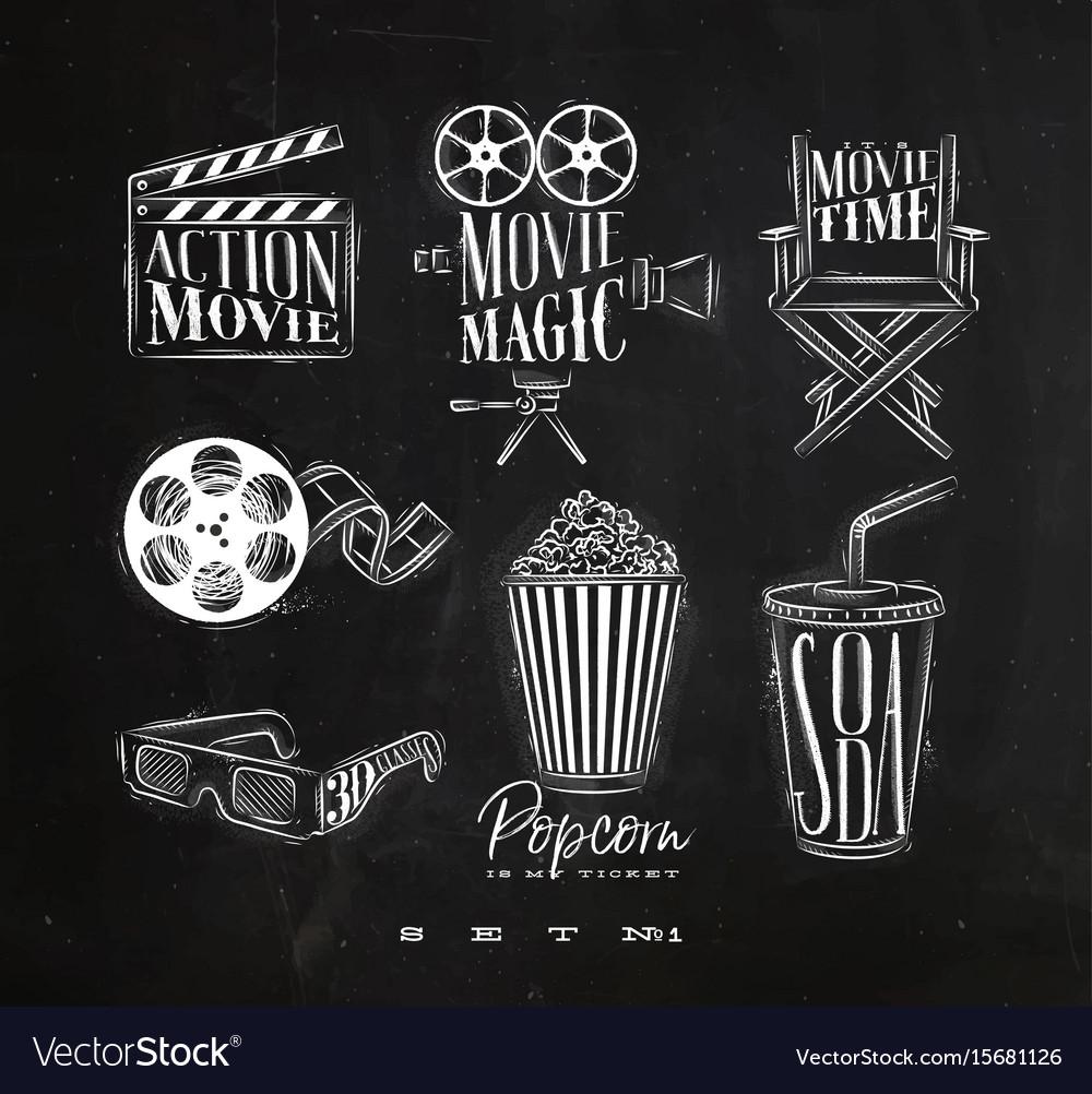 Cinema signs chalk