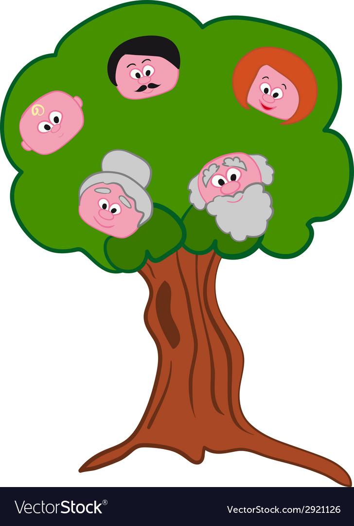 Family Tree Symbol Royalty Free Vector Image Vectorstock