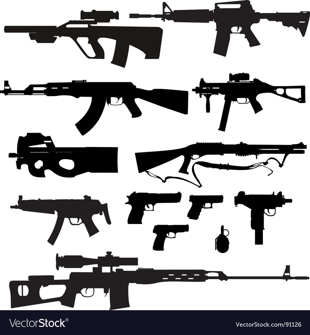 Firearms vector image