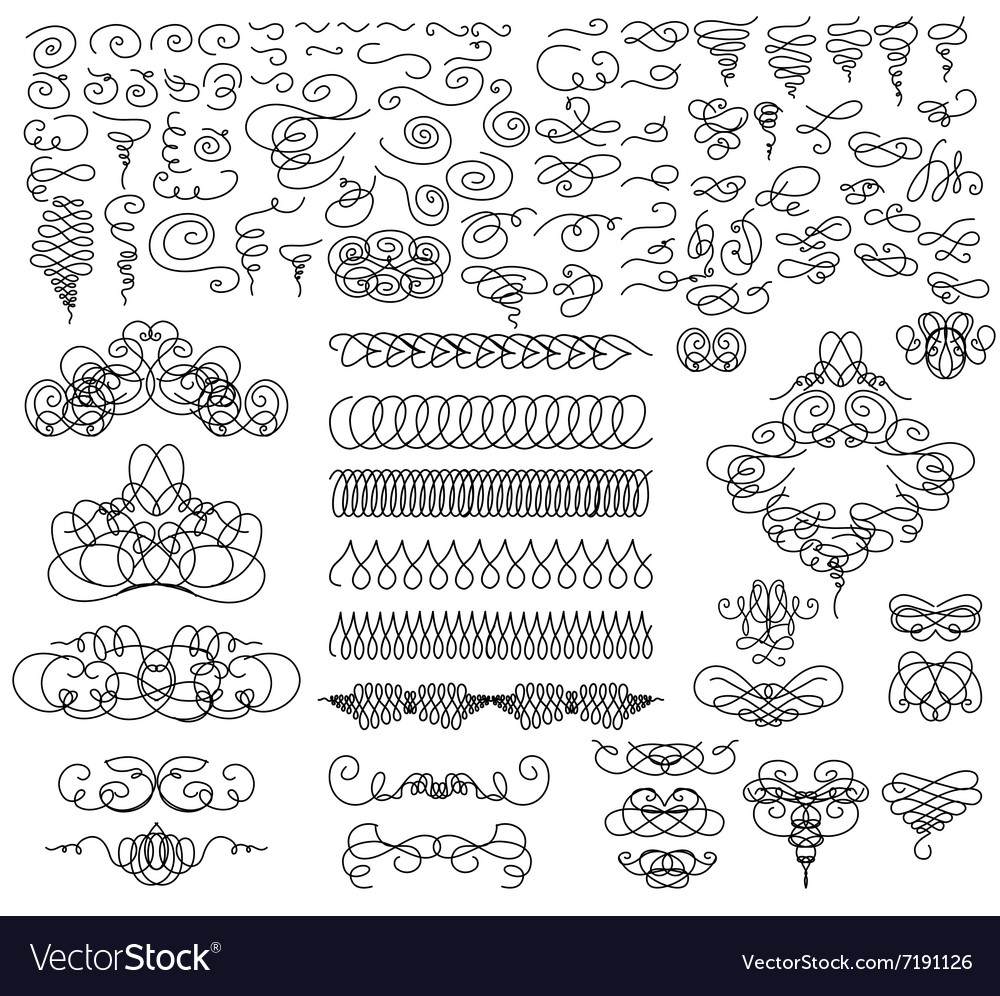 Graphic elements for design set vector image