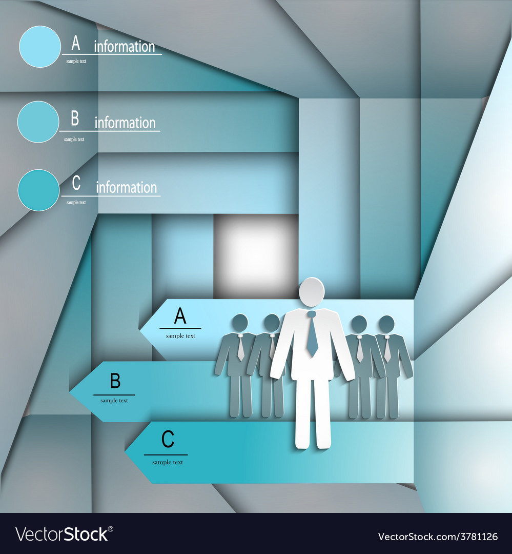 Infographics template with arrows and people