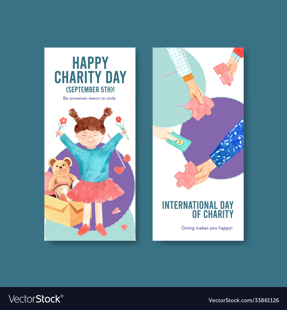 International day charity flyer concept design