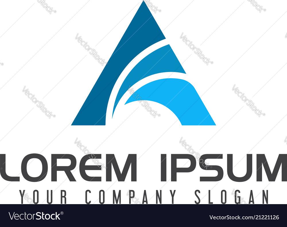 Letter a logo business finance logo design