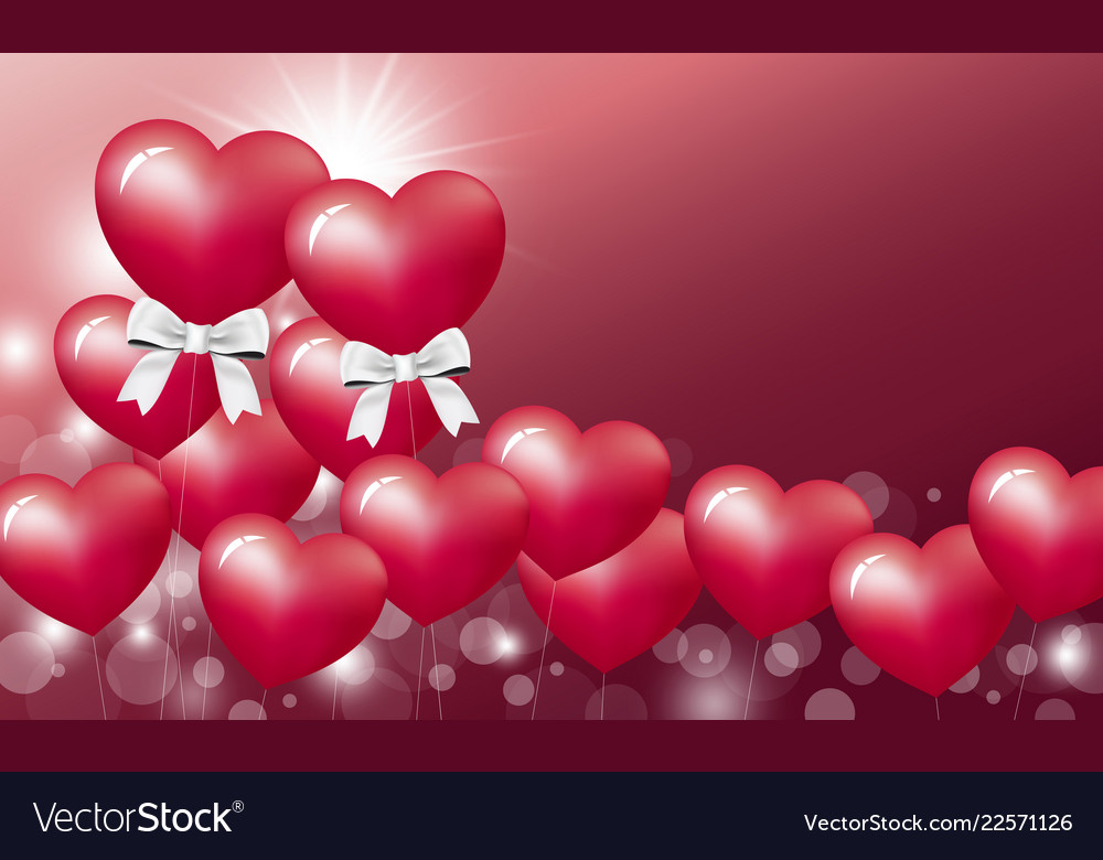 Love concept design of heart balloon