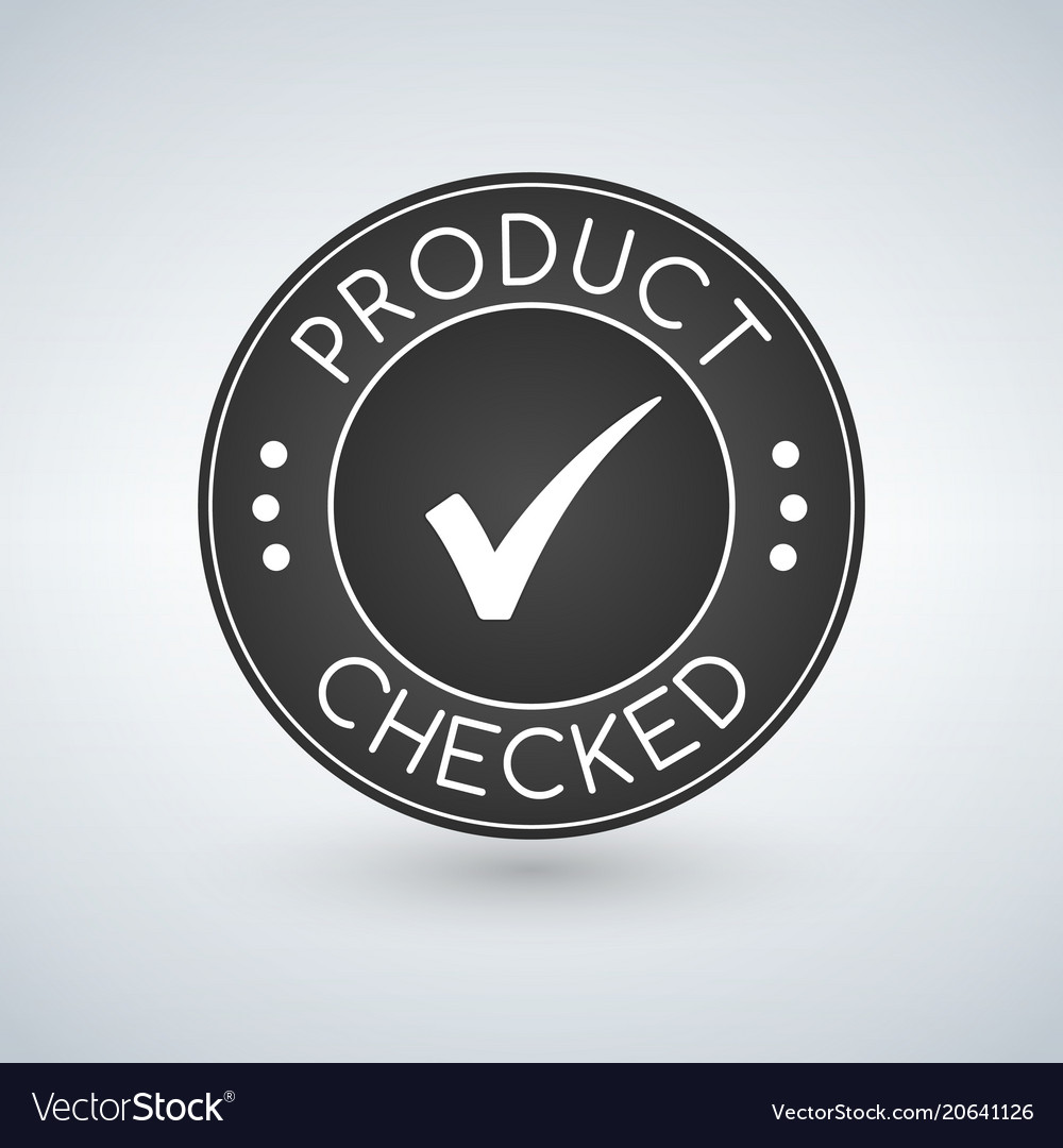 Quality product checked stamp sticker seal round
