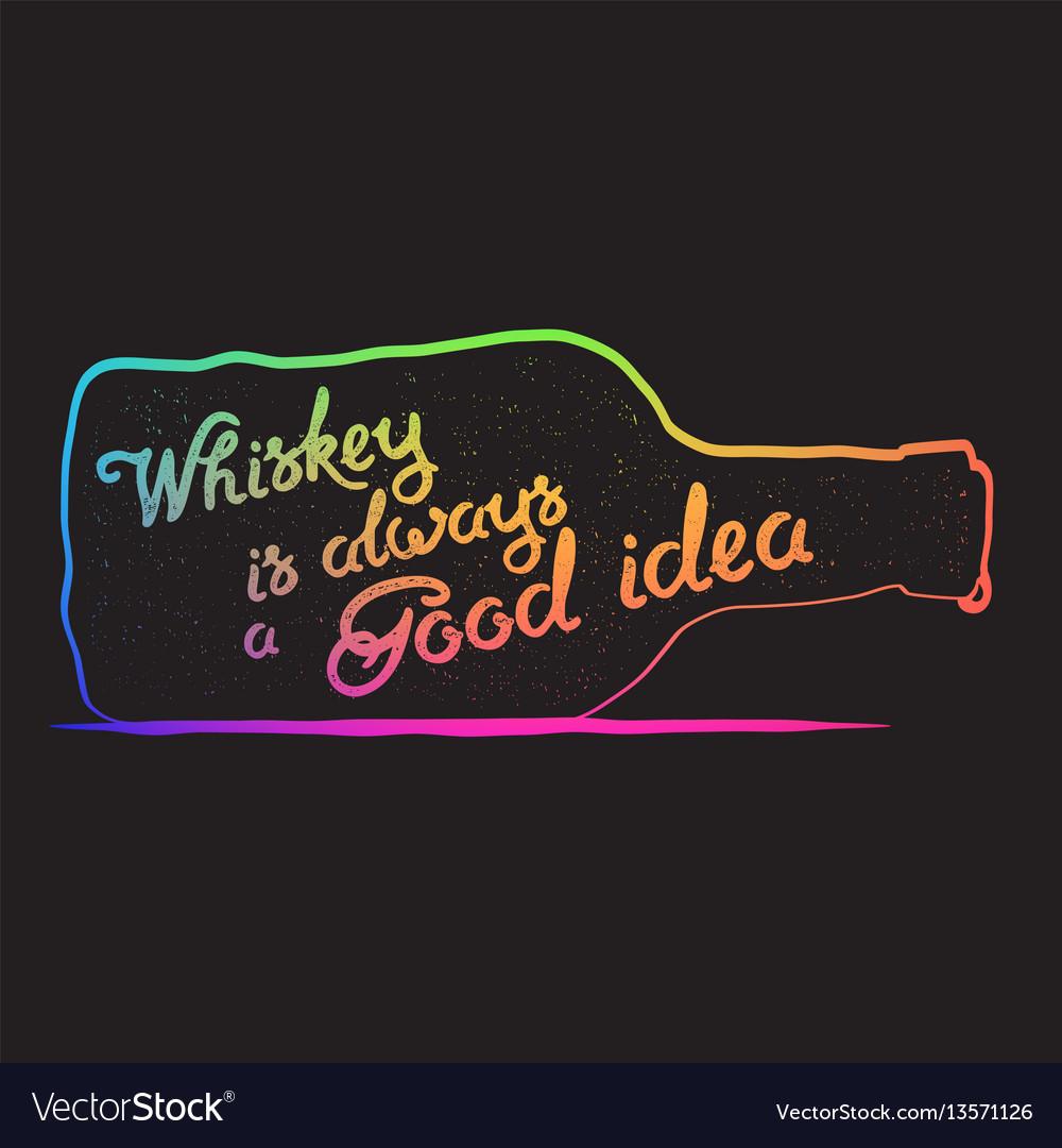 Whiskey lettering art