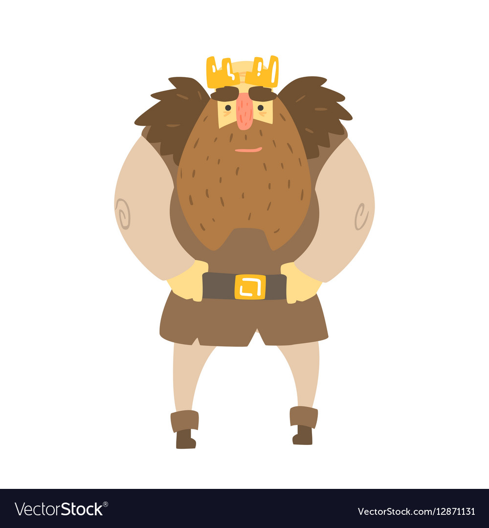 Barbarian King With Animal Pelt On Shoulders
