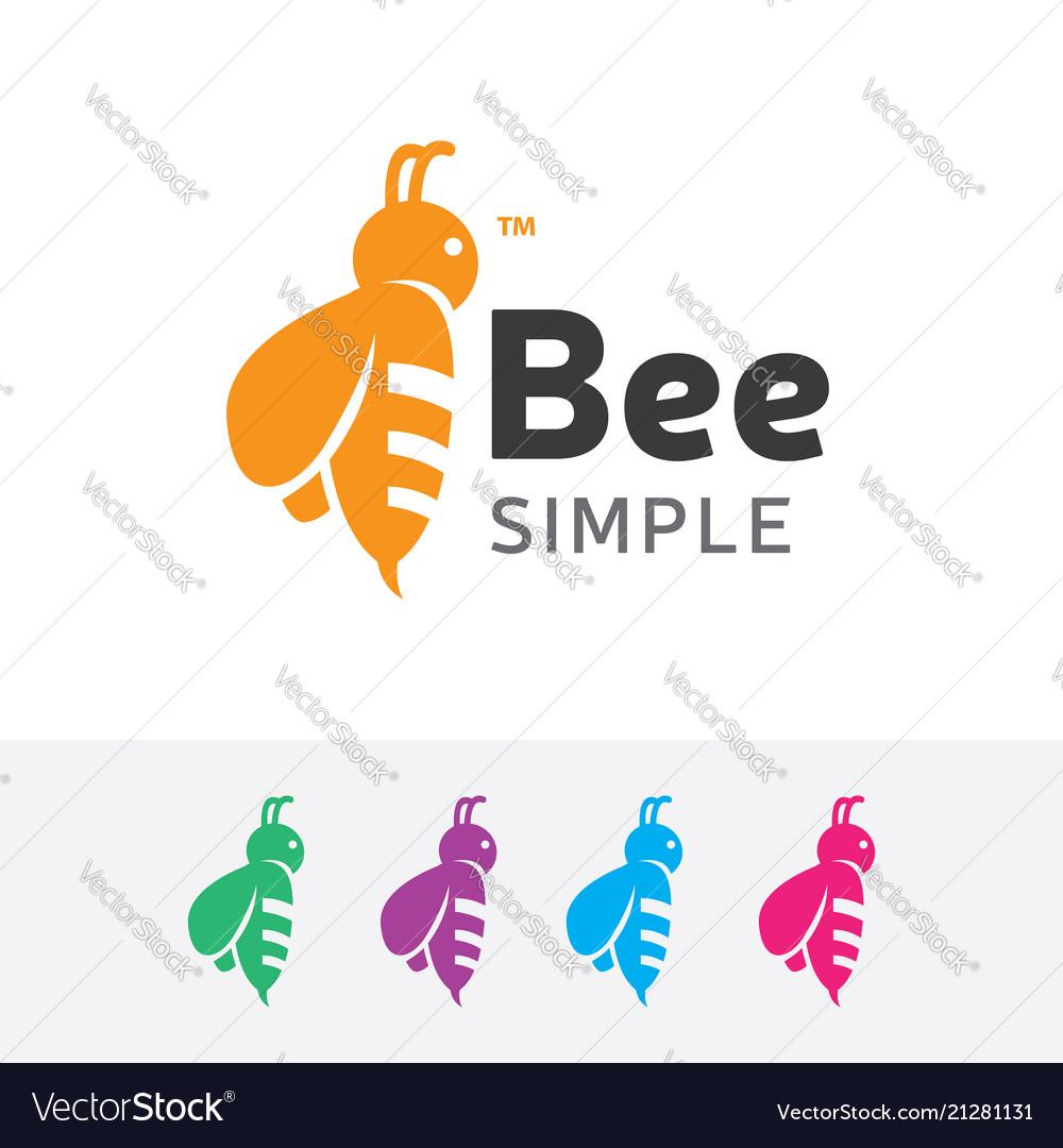 Bee simple logo design