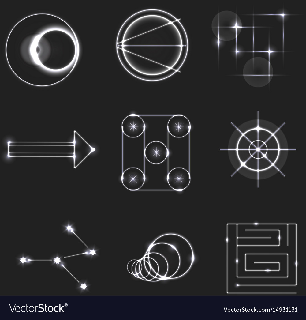 Color dodge light symbols vector image