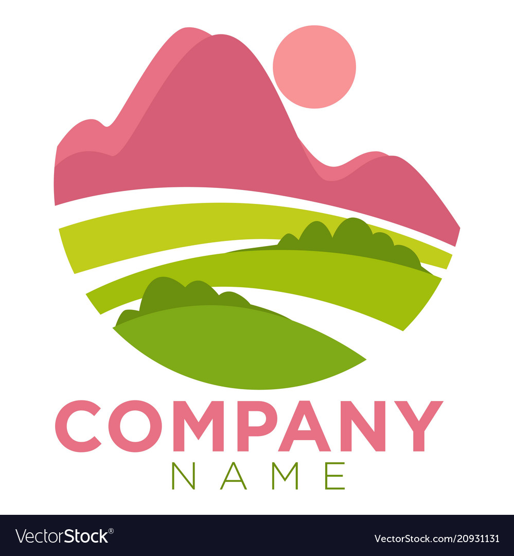 Company round promo emblem template with