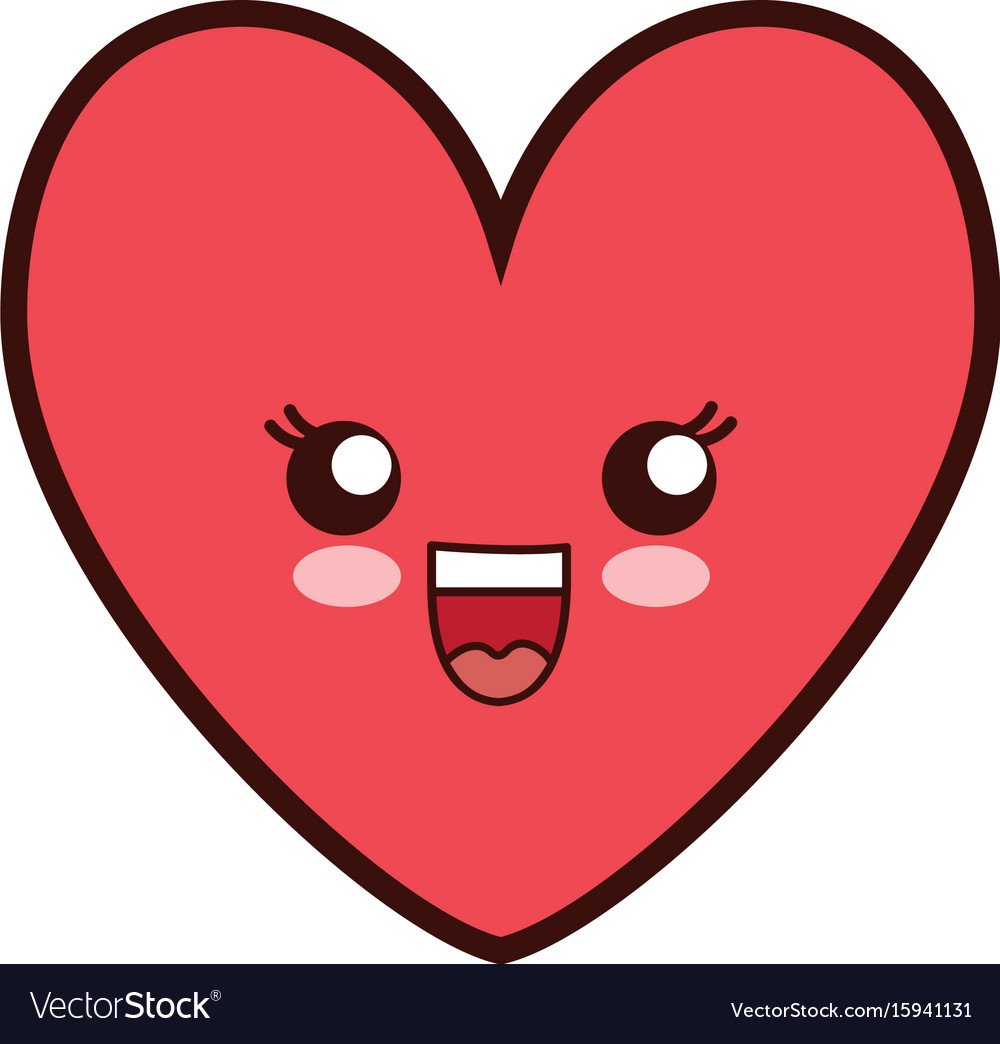 Kawai heart icon Royalty Free ...