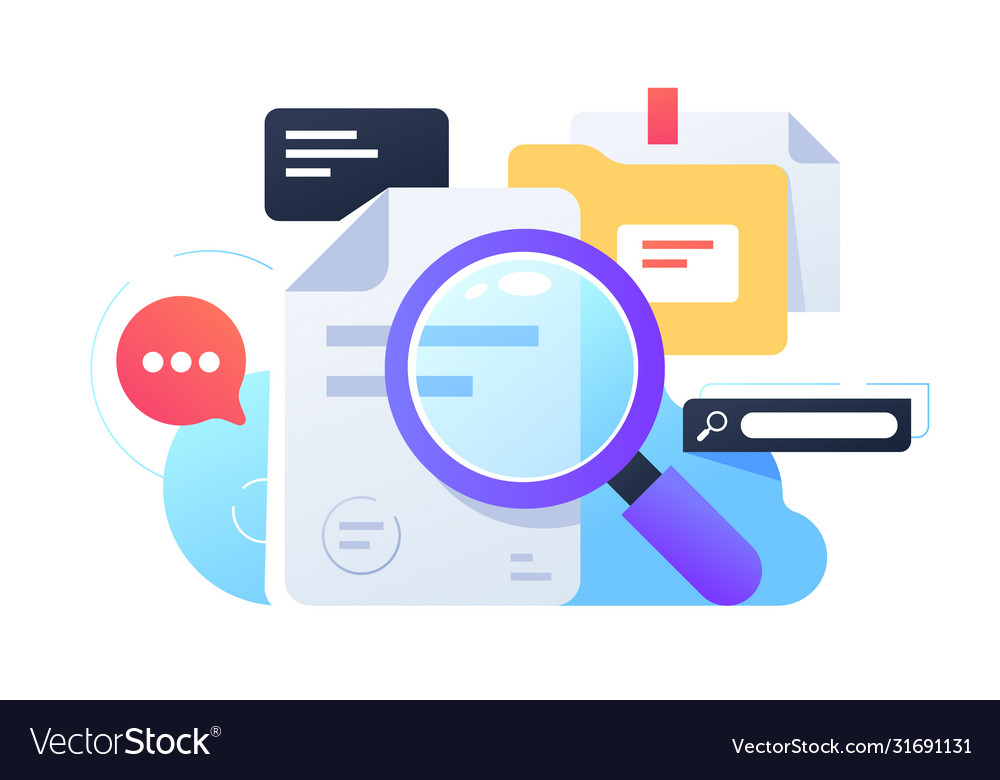 Magnifier searching infortmation using documents