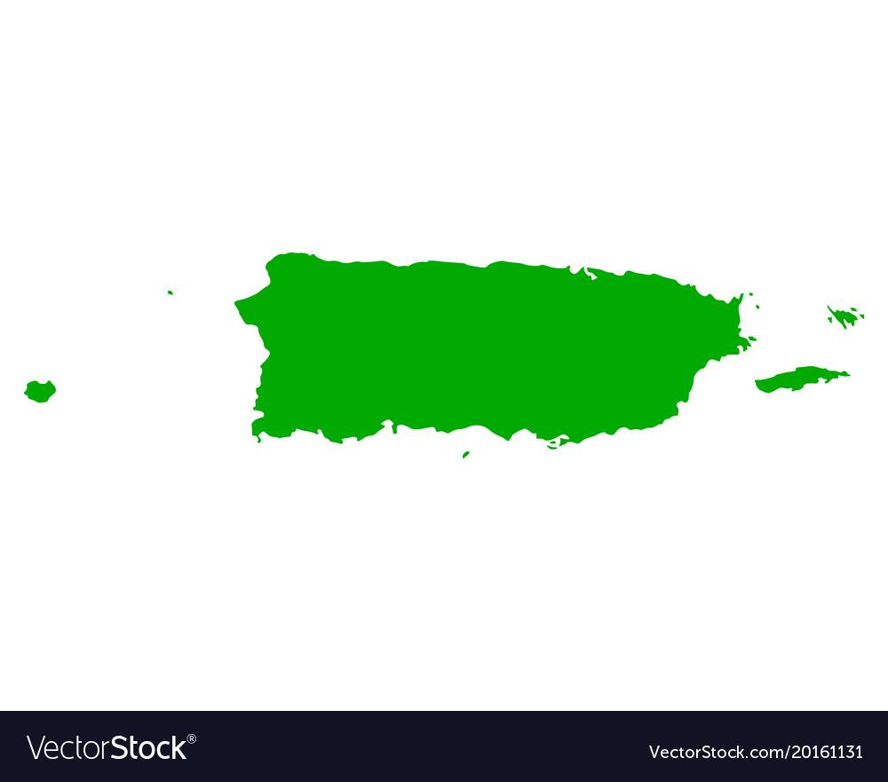 Map of puerto rico Royalty Free Vector Image - VectorStock