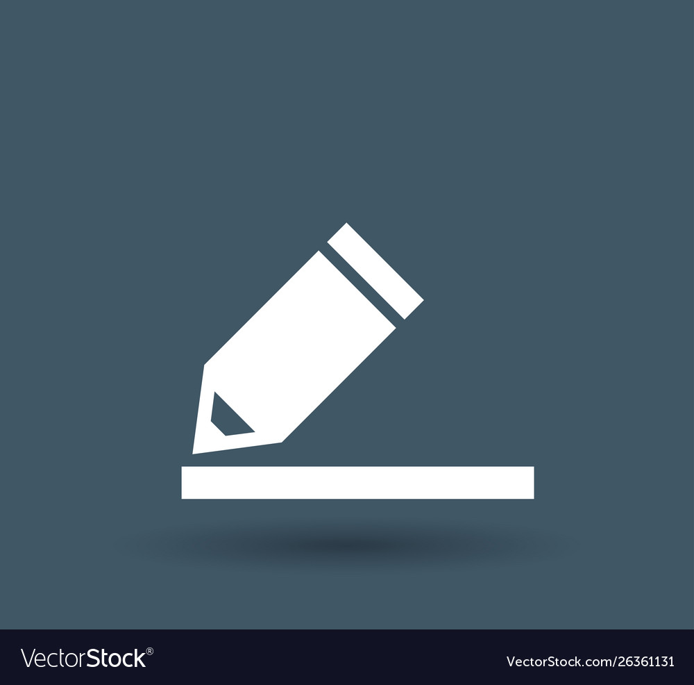 Pencil icon on white background
