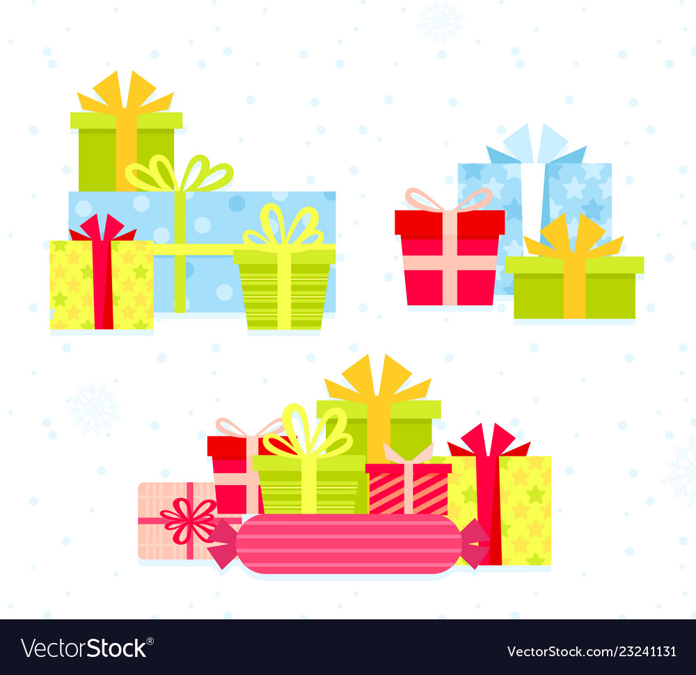 Set different colorful gift
