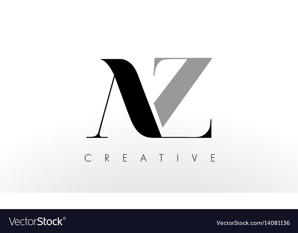 A Z Letter Logo Design Creative Az Letters Icon Vector Image