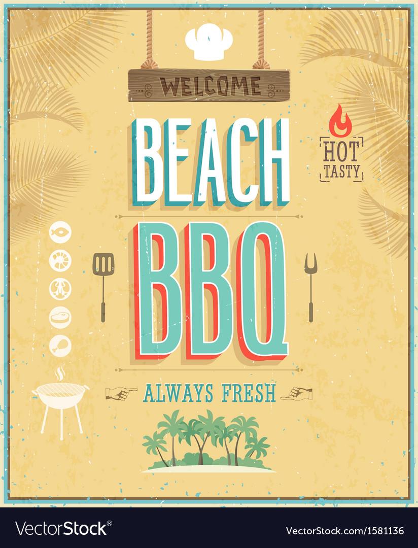 Beach bbq vector image