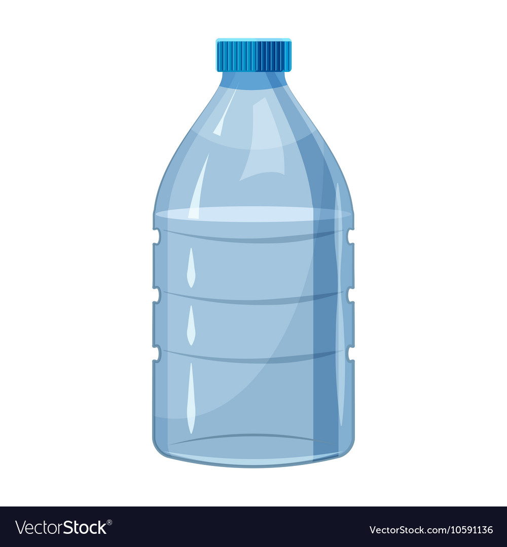 big bottle of water icon cartoon style royalty free vector