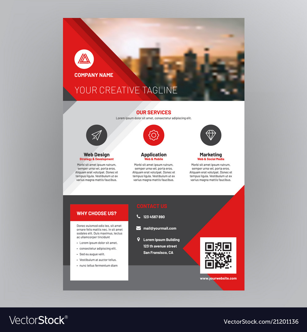 company brochure corporate flyer cover design vector image