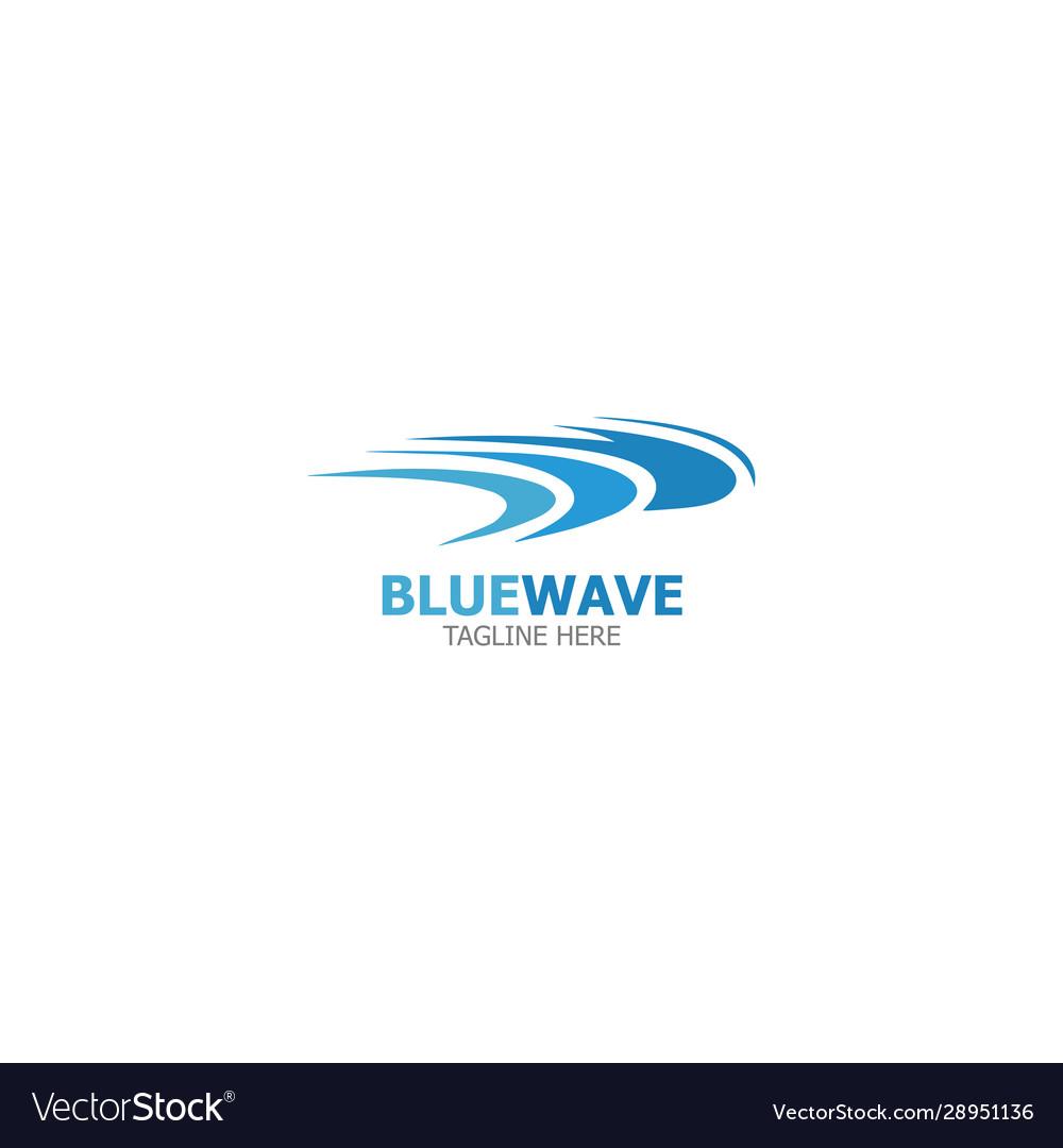 Logo template blue wave